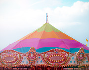 Circus Tent Framed Prints - Rainbow Big Top Framed Print by Sonja Quintero