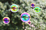 Rainbow Bubbles Print by Suzi Nelson
