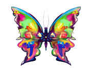 Butterfly Prints Artwork Framed Prints - Rainbow Butterfly Framed Print by Maureen Kealy