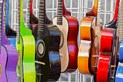 Guitars Photos - Rainbow by Caitlyn  Grasso