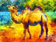 Rainbow Camel Print by Pixel Chimp