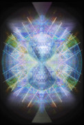 Chalicebridge.com Posters - Rainbow Chalice Cell iSphere Matrix Poster by Christopher Pringer