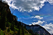 A Summer Evening Landscape Photos - Rainbow Clouds Above Ouray Colorado by Janice Rae Pariza