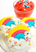 Treats Prints - Rainbow Cookies and Mango Gelato Print by Amy Cicconi