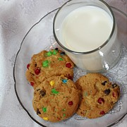 Cookies And Milk Prints - Rainbow Cookies and Milk Square - Food Art - Children Print by Barbara Griffin
