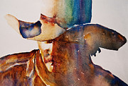 Images Paintings - Rainbow Cowboy by Jani Freimann