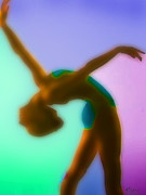 Dancing Girl Pastels Posters - Rainbow Dance Poster by Tony Rubino