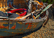 Floats Photos - Rainbow Dinghy by Randy Hall