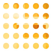 Rainbow Dots Orange Print by Pixel Chimp