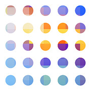 Rainbow Dots  Print by Pixel Chimp