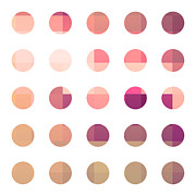 Rainbow Dots Rose Print by Pixel Chimp