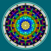 Kaleidoscope Digital Art - Rainbow Effects by Mario Carini