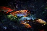 Rainbow Exotic Fish Print by Jani Bryson