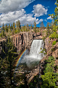 Mammoth Photos - Rainbow Falls by Cat Connor