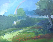 New Jersey Painting Originals - Rainbow from Heaven by Patricia Kimsey Bollinger