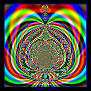 Genie Digital Art - Rainbow Genies Lamp Fractal 76 by Rose Santuci-Sofranko