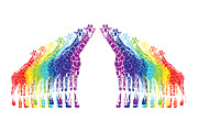 Beauty Balance Design - Rainbow Giraffes