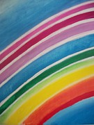 Chakra Rainbow Painting Originals - Rainbow Healing by Leonardo Vidal