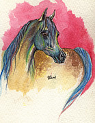 Horse Drawing Painting Prints - Rainbow Horse 2013 11 17 Print by Angel  Tarantella