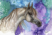 Horse Drawing Framed Prints - Rainbow Horse 4  Framed Print by Angel  Tarantella