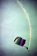 Parachute Jump Prints - Rainbow in Motion Print by Trish Mistric