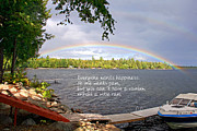 Wants Prints - Rainbow Inspirational Quote Print by Barbara West