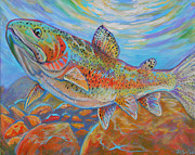Flyfishing Prints - Rainbow  Print by Jenn Cunningham