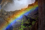 Barkley Prints - Rainbow Light at Vernal Falls Print by Anne Barkley