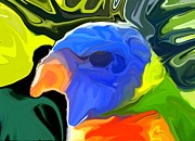Parakeet Digital Art Posters - Rainbow Lorikeet Poster by Chris Butler