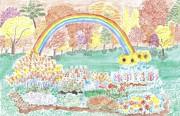 Rainbow Of Colors Print by Saywood Samen