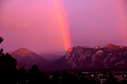 Lake 34 Posters - Rainbow of Hope Over Estes Park Poster by Tranquil Light  Photography