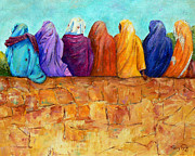 Burkas Prints - Rainbow on the Wall Print by Terry Taylor