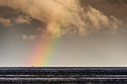 Rainbow Over A Black Ocean Print by Colin Utz