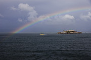 Alcatraz Prints - Rainbow over Alcatraz Print by Steve Taylor