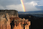 Rainbow Over  Bryce Canyon Print by Sandra Bronstein