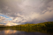 Mills Photos - Rainbow over Lake Eden Vermont by Stephanie McDowell