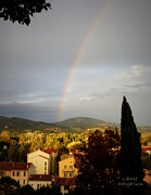 Good Luck Framed Prints - Rainbow Over Provence Framed Print by Lainie Wrightson