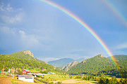 Colorado Mountain Prints Prints - Rainbow Over Rollinsville Print by James Bo Insogna