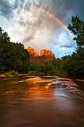 Rainbow Over Sedona Print by Adam Schallau