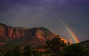 Sedona Prints - Rainbow Over Sedona  Print by Saija  Lehtonen