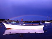 Garrison Cove Photos - Rainbow over the Cribstone by Donnie Freeman
