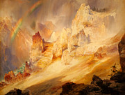 Thomas Moran - Rainbow over the Grand Canyon of the Yellowstone by Thomas Moran
