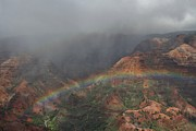 Butch Phillips Prints - Rainbow over the Pacific Grand Canyon Print by Butch Phillips