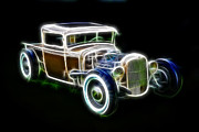 Model A Sedan Prints - Rainbow Pickup Print by Steve McKinzie