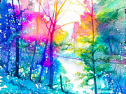 River Art Mixed Media - Rainbow River by Patricia Allingham Carlson
