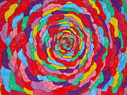 Rainbow Rose Print by Jennifer Vazquez