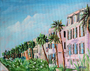 Battery Paintings - Rainbow Row Charleston South Carolina by Todd Bandy