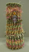Baskets Sculptures - Rainbow Sherbet Basket by Beth Lane Williams