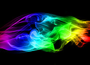 Colored Smoke Posters - Rainbow Smoke Poster by Jt PhotoDesign