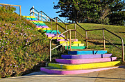 Stairway To Heaven Posters - Rainbow Steps Poster by Kaye Menner